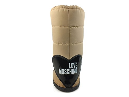 Inverno Sci Moschino Taupe Doposci Moon Beige Neve Donna Tessuto Love 2017 Boot 6Ovwvq
