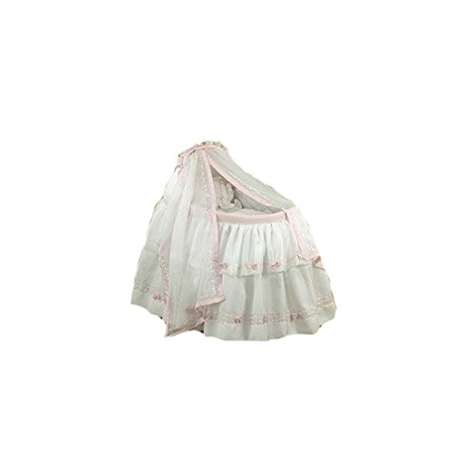 BabyDoll Baby Regal Liner/Skirt & Hood with Pink Trim, 15'' x 30''