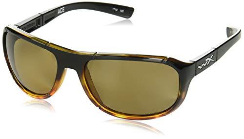 Wiley X ACACE04 Ace Sunglasses Polarized Bronze Lens Gloss, Black