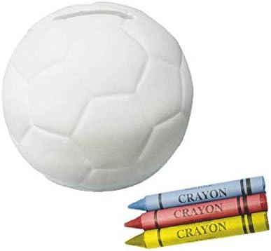 Vasara Hucha Infantil de Cerámica Balón Fútbol para Pintar con 3 ...