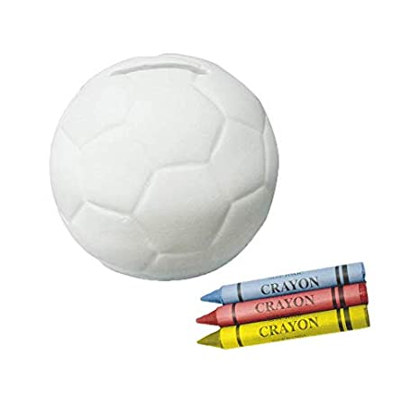 Vasara Lote de 20 Huchas Infantiles de Cerámica Balón Fútbol para ...
