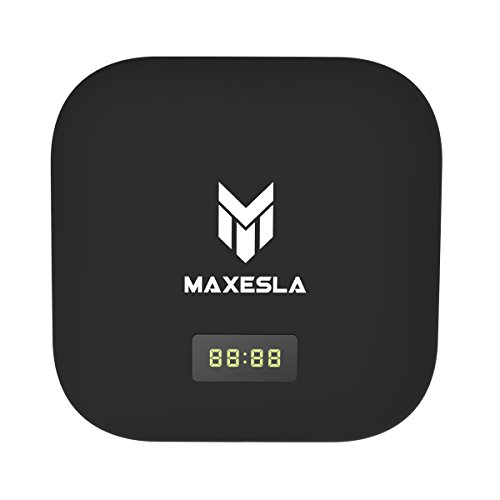 [2017 New Arrivals] Maxesla S905X Android TV BOX, MAX-S 4K Android 6.0 Amlogic Bluetooth 4.1 Airplay/Miracast Internet OTA Update TV Stick WIFI Smart Android Box LED Time Indicator [2GB/16GB] by Maxesla
