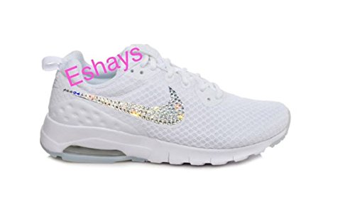 Image Unavailable. Image not available for. Color  Bedazzled Glitter  Crystal Bling White Women s Air Max ... 5d1555c0a8