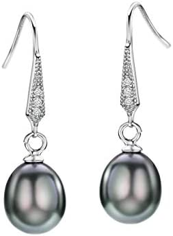 Freshwater Earrings Sterling Diamond Accented product image