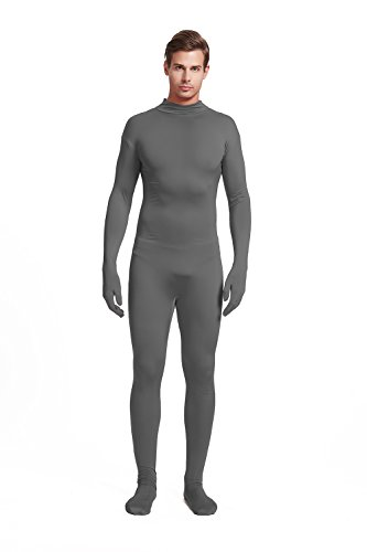 Full Bodysuit Unisex Adult Costume Without Hood Lycra Spandex Stretch Zentai Unitard Body Suit (Large, Dark -