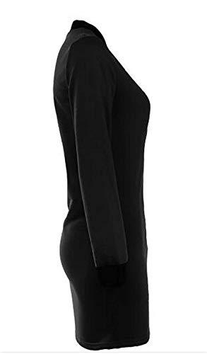 Marca Trench Donna Con Cappotti Puro Giacca Swag Jacket Cerniera Vento Elegante Collo Autunno Fit Biker Slim Di Nero Coreana Manica Streetwear Mode Lunga Colore Comodo FffwOqdAxC
