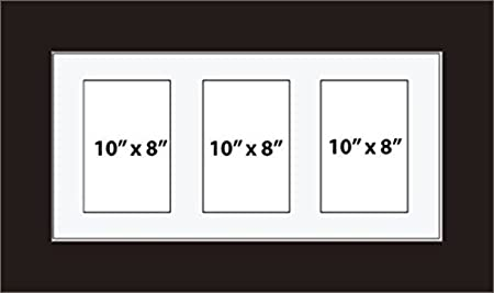 Kwik Picture Framing | MULTI APERTURE PHOTO FRAME FITS 3 10 x 8 ...