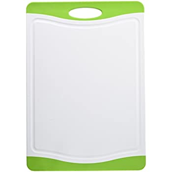 Neoflam Poly Cutting Board with Microban Antimicrobial Protection, Green, 17x12 Inch