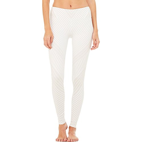 Alo Yoga Airbrush Legging - Women's White Santa Fe, M by Alo Yoga