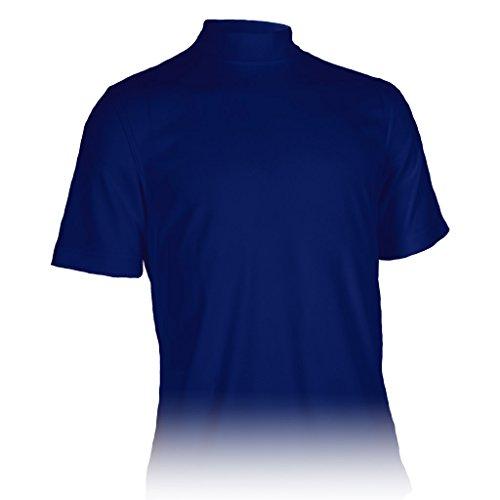 Monterey Club Mens Dry Swing Classic Pique Mock Neck Shirt #3305 (Navy, Medium) Dri Fit Mock Neck Shirt