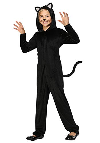 Childrens Cat Onesie (Black Cat Girls Halloween Costume Onesie)