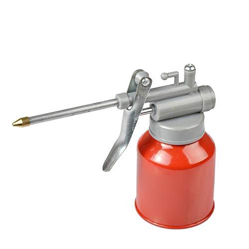 (High Pressure Machine Oil Pot Can 350ML Plastic Hose Resistant to Copper Tip Nozzle Oiler Oil Spray Bottle Oil Can with Long Nozzle Machine Oil Pot Vessel Spray Gun)