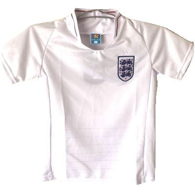 代表する桃ブロッサム?ネーム作成?子供用 K016 イングランド 白 19 ゲームシャツ パンツ付