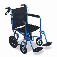 (Medline Excel Deluxe Aluminum Transport Wheelchair, 19 x 16, 300 lbs.)