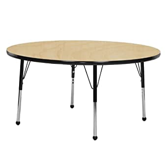 48u0026quot; Round Classroom Table Top Color: Maple, Table Size: Standard  21u0026quot;