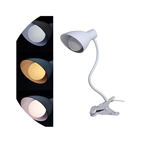 Metro Modern Table Lamp - Modern LED Table Lamp Desk Lamp 3 Color Switchable Clip Reading Light,Desk Lamp No Bulb,E27
