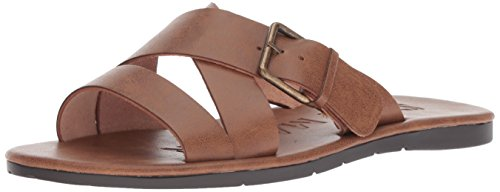 (Steve Madden Men's Suspense Sandal Cognac Leather 13 M)