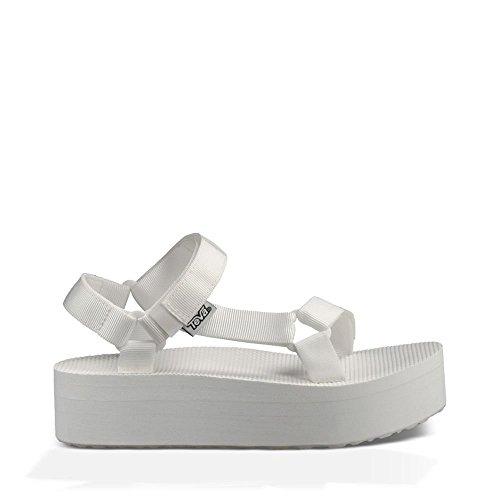 Teva Women's Flatform Universal Platform Sandal, Bright White, 8 M US