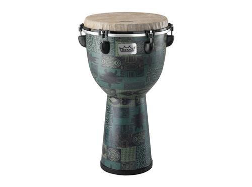 Remo Djembe Drum - Remo DJ-6112-32 Apex Djembe Drum - Green Kinte, 12