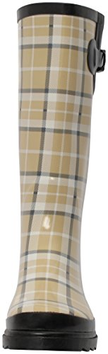 Boots Rubber Beige pluie Plaid Brand Women's Bottes de Fashion Rain New qtqUzX4w