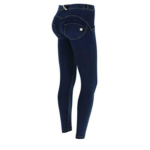 Freddy Talle De Jeans 8 Wr costuras 7 Xxs Punto Amarillo Denim Oscuro up® Efecto Regular Pantalón Superskinny Scuro H0YwrqH