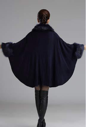 Mujer Para Abrigo Plaer Capa Azul Oscuro qzOn1B