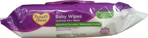 Parent's Choice Quilted Baby Wipes, Refreshing Cucumber, 80ct