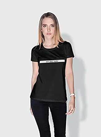 Creo Size Does Matter Funny T-Shirts For Women - Xl, Black