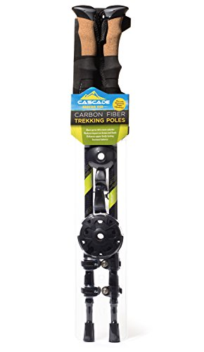 Cascade Mountain Tech 100% Carbon Fiber Trekking Poles Quick Lock
