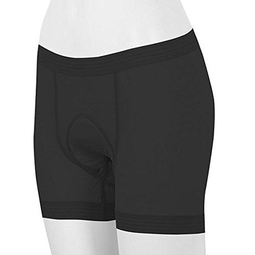 (Shebeest 2018 Women's Glamour Panty Cycling Short Liner - 3069 (Black - XL))