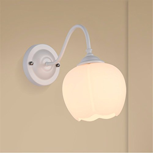 LAONA Circular wall lights bedside lamp Continental US-style living room wall lights, white aisle