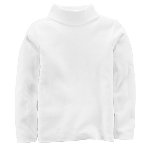 Carter's Little Girls' Cotton Turtleneck (3T, Ivory) (Turtleneck Shirt Ivory)