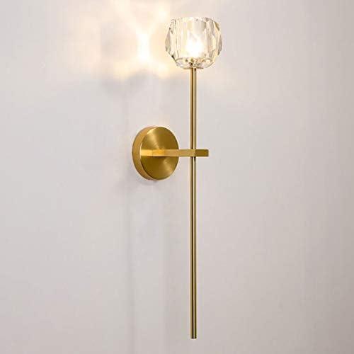 APBEAMLighting Crystal Ball Wall Sconce Gold Modern Brass Bedside Wall Lighting