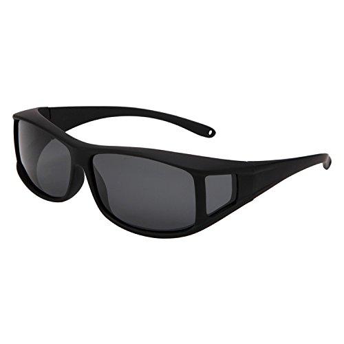 Solarfun Polarized Fit Over Glasses Sunglasses Wrap Around Solar Reduce Shield for Men and Women's - Wrap Sunglasses