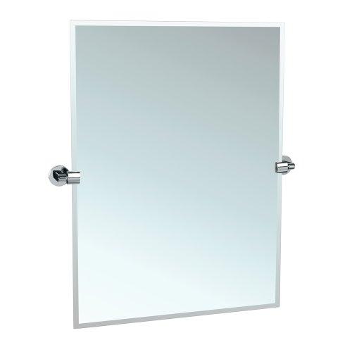 Gatco Rectangular Mirror - Gatco 4109S Zone Tilting Wall Mirror, Chrome