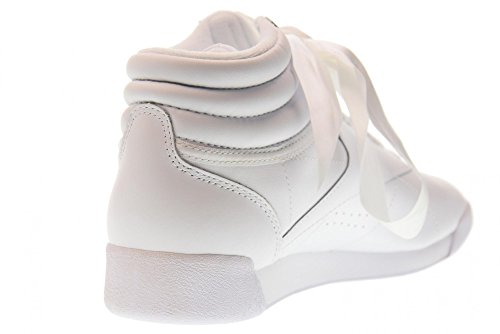 Reebok Freestyle Hi Satin Bow, Zapatillas Altas Para Mujer Blanco (White/Skull Grey)