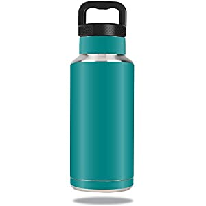 MightySkins Protective Vinyl Skin Decal for Ozark Trail Water Bottle 36 oz wrap cover sticker skins Solid Teal
