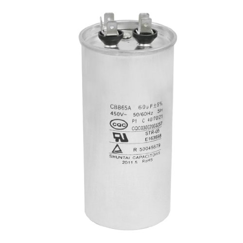 Aexit CBB65A Air Conditioner Cylinder Motor Run Capacitor 60uF 450V AC by Aexit