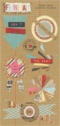 Kraft Funday Happy Day Layered Stickers-