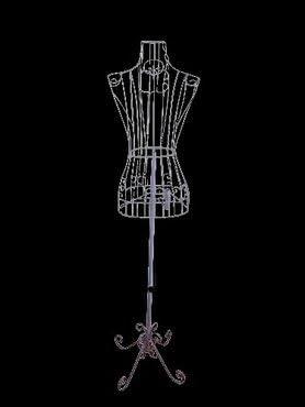 Amazon.com: Hembra Blanco Vestido de maniquí de alambre de acero ...