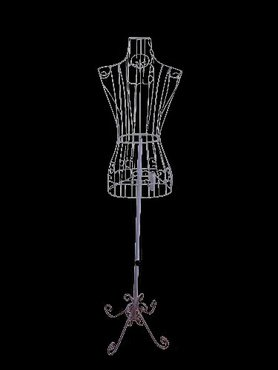 Decorative Forms - Female White Steel Wire Mannequin Dress Form 32