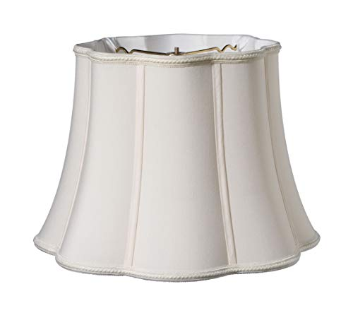 Slant Melon Out Scallop Softback Lampshade with Washer Fitter, Cream, (SI52126)