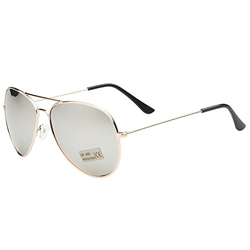 AMAZZANG-New Retro Outdoor Sports Aviator Sunglasses Unisex Eyewear Driving Glasses (GOLD-FRAMED WHITE - Vuitton Sunglasses Aviator Mens Louis