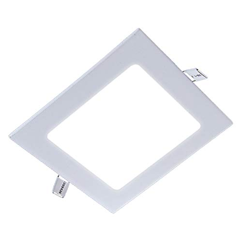 ZEEZ Lighting - 20W 9 (OD 9.25 / ID 8.40) Square Warm White Non-Dimmable LED Recessed Ceiling Panel Down Light Bulb Slim Lamp Fixture - 1 Pack