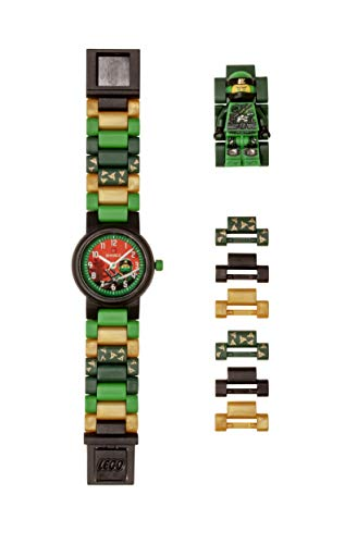 LEGO Watches and Clocks Boy's 'Ninjago Lloyd' Quartz Plastic Casual watch,  Color:Green (Model: 8021421) ()