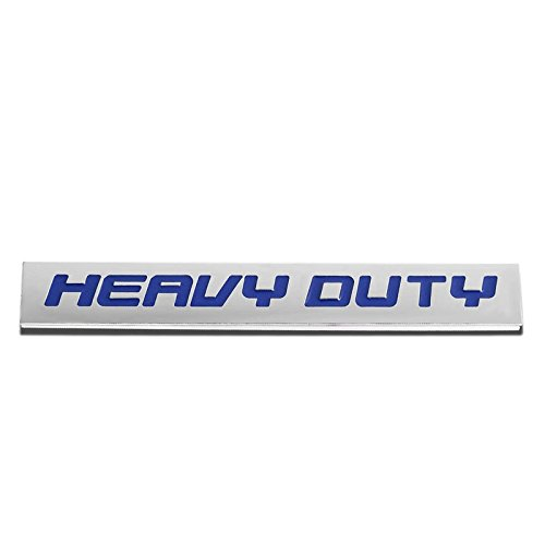 (UrMarketOutlet HVDT Blue/Chrome Aluminum Alloy Auto Trunk Door Fender Bumper Badge Decal Emblem Adhesive Tape Sticker)
