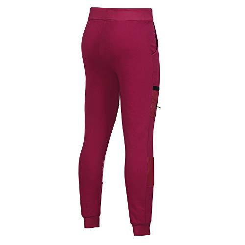 Pantaloni Cerniera Con Coulisse Sportivi hop Fitness Cucitura Hip Uomo Hop Rosso Da Pantalone A Jiameng E Hip dYtAqd