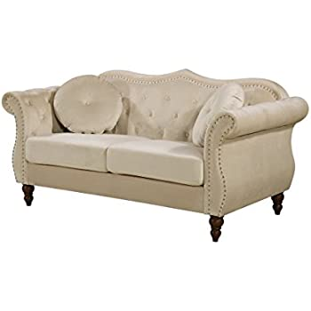 Amazon Com Homelegance St Claire Traditional Style Sofa With