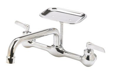 Mueller Trad Faucets 123-009NL Wall Mount Kitchen Faucet ...