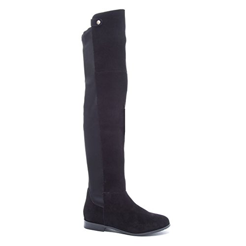 Chinese Laundry Women's Robin Winter Boot, Black Suede,  7.5 M US